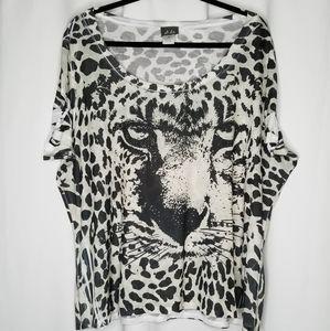 Dots 3x leopard cheetah print black rhinestones
